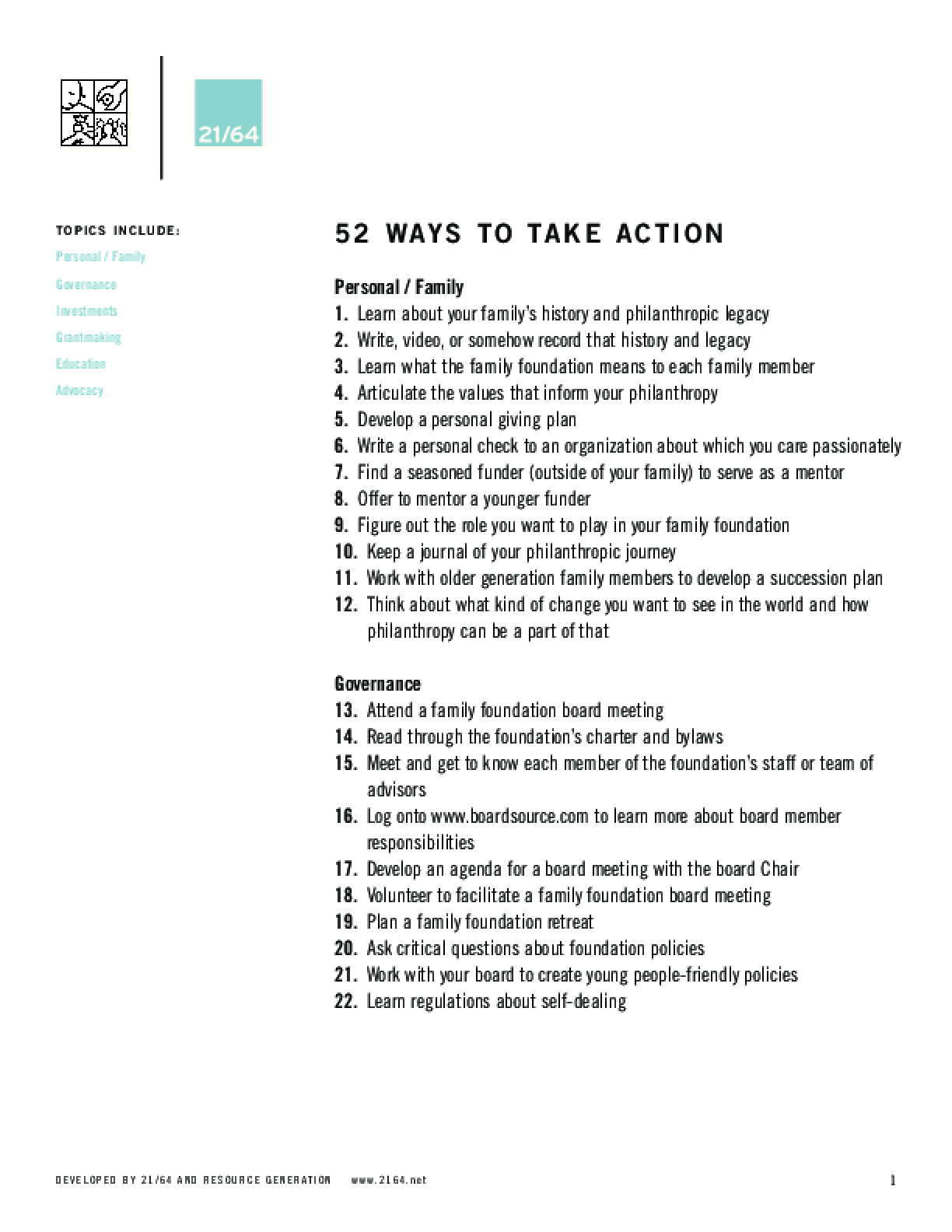 52 Ways to Take Action